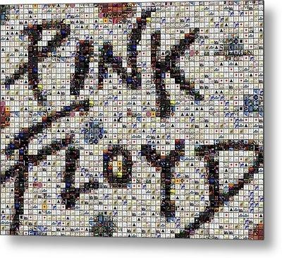 Pink Floyd Albums Mosaic Metal Print by Paul Van Scott