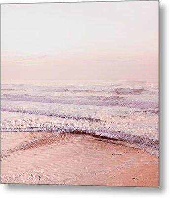 Metal Print featuring the photograph Pink Pacific Beach by Bonnie Bruno