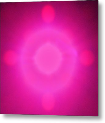 Pink Power Metal Print by Joshua Sunday