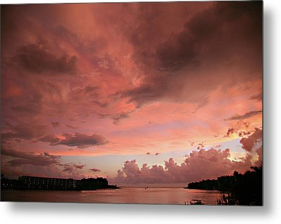 Pink Sky At Night Metal Print by Carol Kinkead