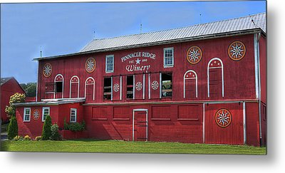 Metal Print featuring the digital art Pinnacle Ridge Winery by Sharon Batdorf