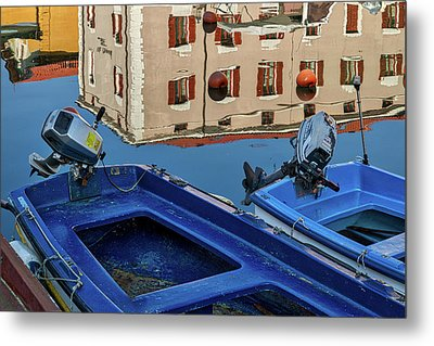 Metal Print featuring the photograph Piran Marina Reflections #3 by Stuart Litoff