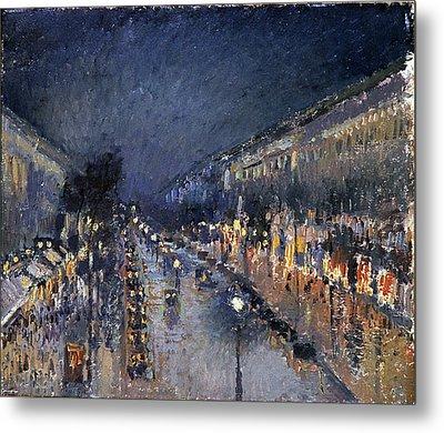 Pissarro: Paris At Night Metal Print by Granger