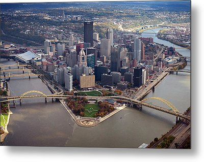 Pittsburgh 8 In Color  Metal Print