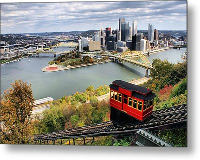 Pittsburgh From Incline Metal Print