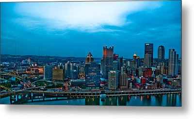 Pittsburgh In Hdr Metal Print by Kayla Kyle