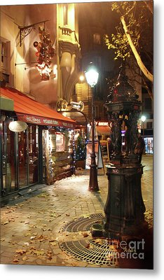 Place St Michel To Rue Saint-andre Des Arts Metal Print