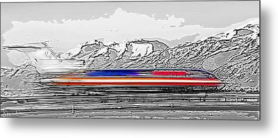 Plane At Airport 1 - Signed Limited Edition Metal Print