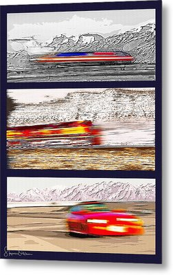 Planes Trains Automobiles Triptych - Signed Limited Edition Metal Print