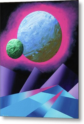 Planet X Abstract Landscape Painting Metal Print by Mark Webster