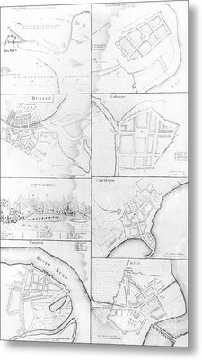 Plans Of The Principle Towers, Forts And Harbors In Ireland  Metal Print