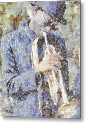 Play The Blues Metal Print by Shirley Stalter