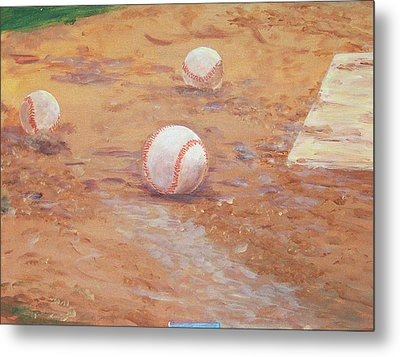 Playball Metal Print