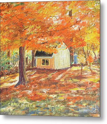 Playhouse In Autumn Metal Print by Carol L Miller