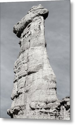 Metal Print featuring the photograph Plaza Blanca Hoodoo by Britt Runyon