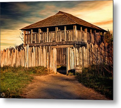 Plimouth Plantation  Meeting House Metal Print by Lourry Legarde