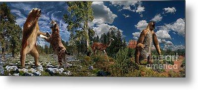 Pliocene - Pleistocene Mural 2 Metal Print