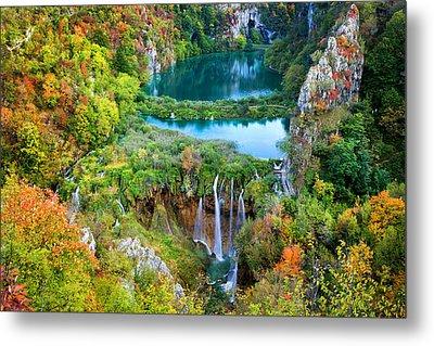 Plitvice Lakes In Croatia Metal Print