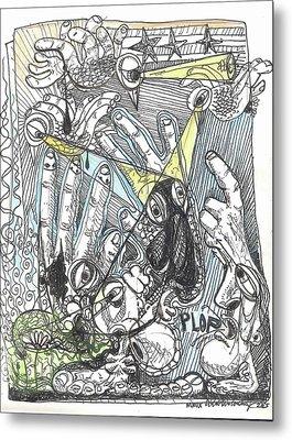 Plop Metal Print by Robert Wolverton Jr