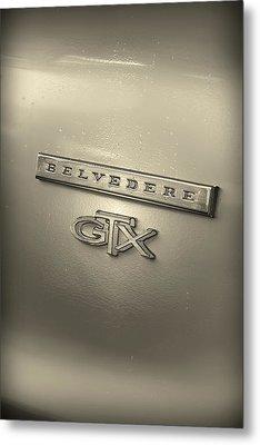 Plymouth Belvedere Gtx Fender Emblem Badge Metal Print by Gordon Dean II