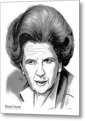 Pm Margaret Thatcher Metal Print