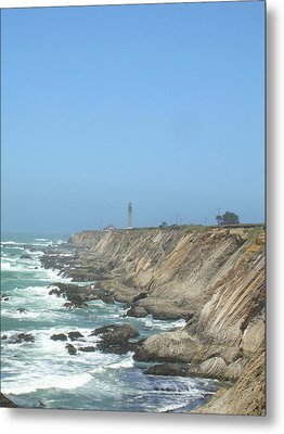 Metal Print featuring the photograph Point Arena Lighthouse - Vertical by Bonnie Muir
