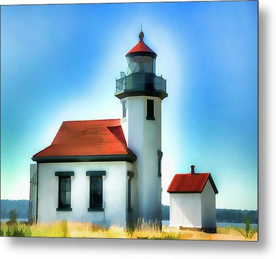Point Robinson Lighthouse Metal Print by Greg Sigrist