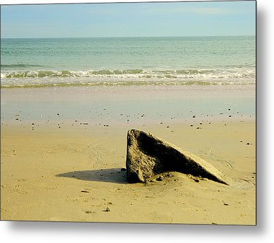 Pointed Rock At Squibby Metal Print
