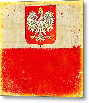 Poland Flag Metal Print by Setsiri Silapasuwanchai