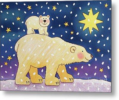 Polar Back Ride Metal Print by Cathy Baxter