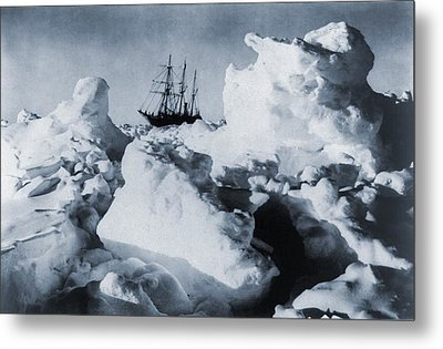 Polar Explorer, Ernest Shackletons Metal Print by Everett