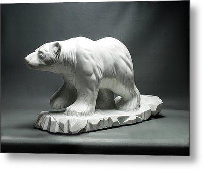 Polar King Metal Print by Leslie Dycke