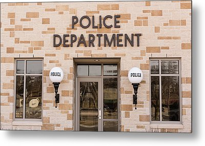 Police Station Building Metal Print by Keith Homan
