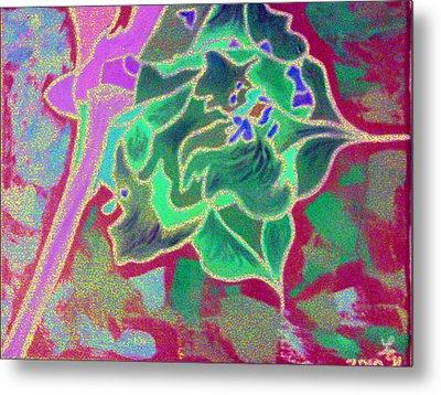 Pomegranate Flower Metal Print
