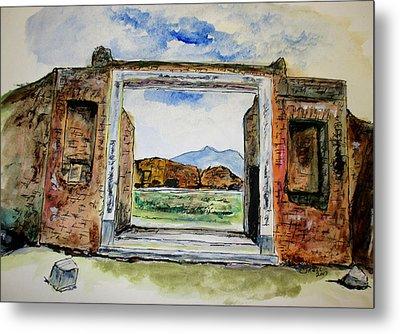 Pompeii Doorway Metal Print by Clyde J Kell