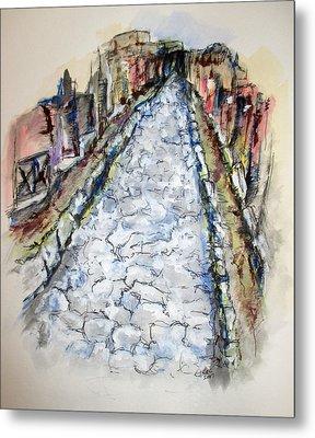 Pompeii Road Metal Print by Clyde J Kell