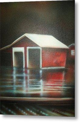 Pond House Metal Print by Scott Easom