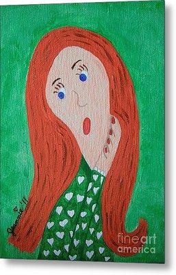 Pondering Redhead Metal Print by Jeannie Atwater Jordan Allen