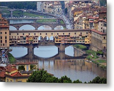 Ponte Vecchio Metal Print by Terence Davis