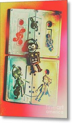 Pop Art Music Robot Metal Print by Jorgo Photography - Wall Art Gallery
