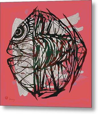 Pop Art - Tropical Fish Poster Metal Print