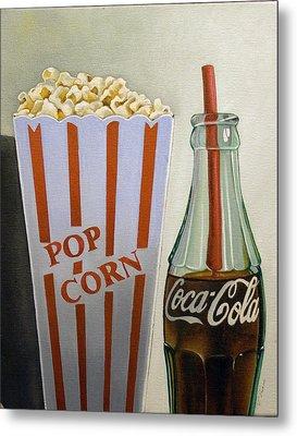 Popcorn And Coke Metal Print by Vic Vicini
