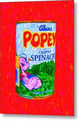 Popeye Spinach Metal Print by Wingsdomain Art and Photography