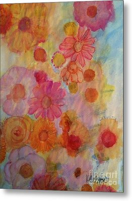 Metal Print featuring the painting Popping by Kim Nelson