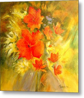 Poppy Bouquet  Metal Print by Madeleine Holzberg