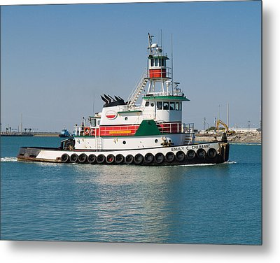 Popular Sight At Port Canaveral On Florida Metal Print by Allan  Hughes