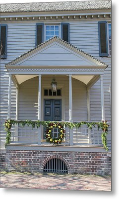 Porch Decor At The Robert King Carter House Metal Print by Teresa Mucha