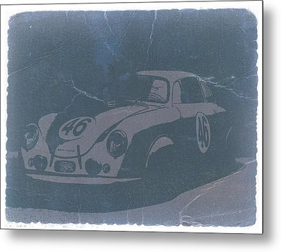Porsche 356 Coupe Front Metal Print by Naxart Studio