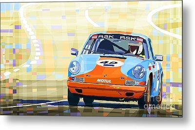 Porsche 911 S  Classic Le Mans 24  Metal Print by Yuriy  Shevchuk
