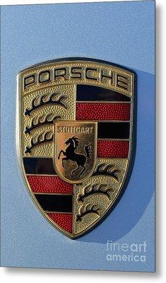 Porsche Badge Metal Print by George Atsametakis
